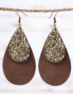Glitter Teardrop - Chocolate