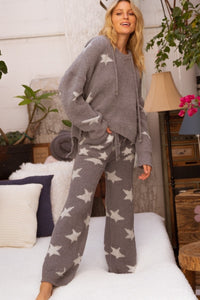 Fluffy Star Grey Lounge Pants