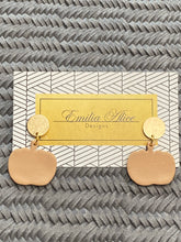 Load image into Gallery viewer, Emilia Alice Designs - Clay Earrings - Pumpkins on a Gold Stud