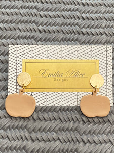 Emilia Alice Designs - Clay Earrings - Pumpkins on a Gold Stud