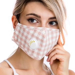 Gingham Checkered Washable Face Mask with Insert