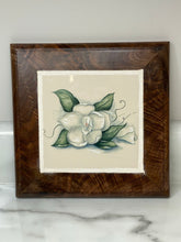 Load image into Gallery viewer, Handmade Black Walnut Trivet - Green & White Floral