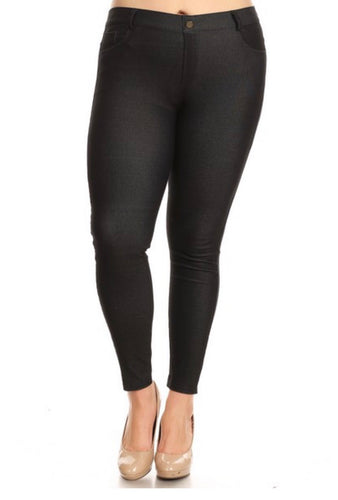 Jeggings - Regular Length- Black