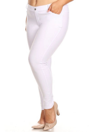 Jeggings - Regular Length - White