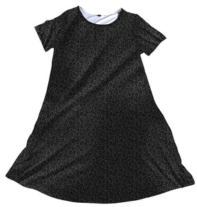 Charlie's Project - Black Leopard Short Sleeve Charley Dress
