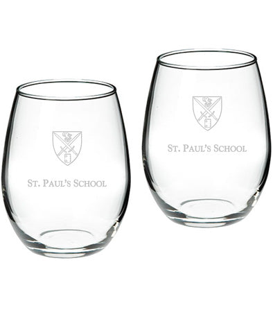 Wine Glasses Stemless Set of Two