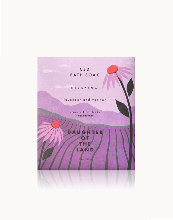 CBD Lavender + Vetiver Bath Soak [Single Serving]