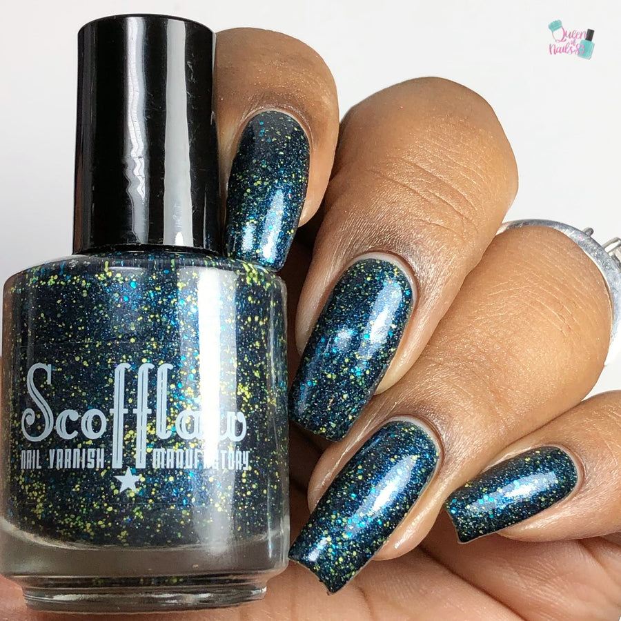Scofflaw Indie Nail Varnish - The Slitherclaw Ravenpuffs