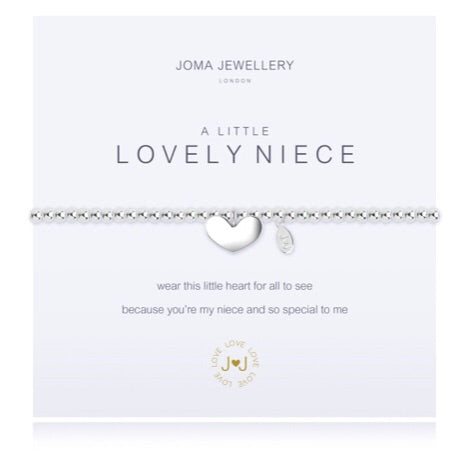 JOMA JEWELLERY A LITTLE LOVELY NIECE – SILVER BRACELET WITH GIFT BAG & TAG