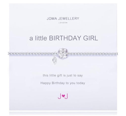 JOMA JEWELLERY Joma Jewellery A Little Birthday Girl Bracelet - Silver