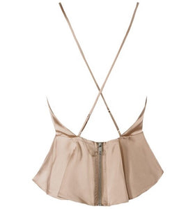 New Beige satin cami top size 8