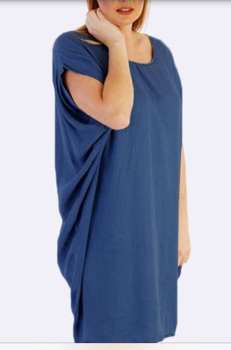 Plus size Strap Back Denim Batwing Dress size 16-24 New