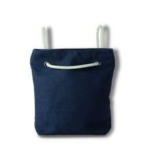 Load image into Gallery viewer, Bag / Backpack in blue hemp canvas with off white cotton straps