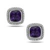 Ellah Amethyst Earrings With Diamonds