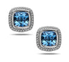 Ellah Blue Topaz Earrings With Diamonds