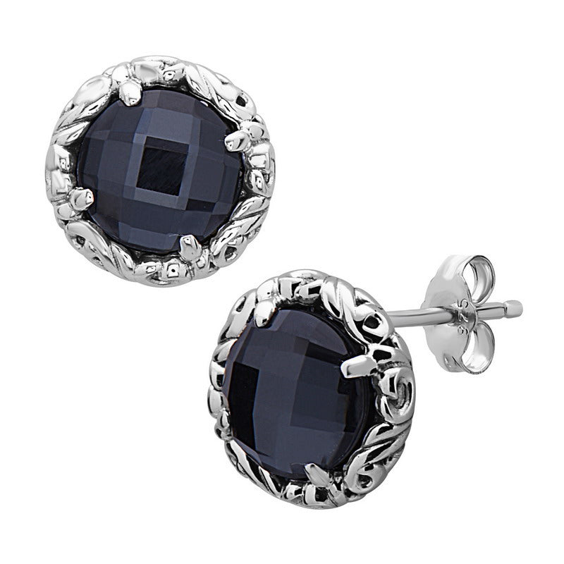 Skye Hematite Stud Earrings