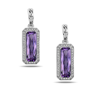 Eve Purple Amethyst Earrings