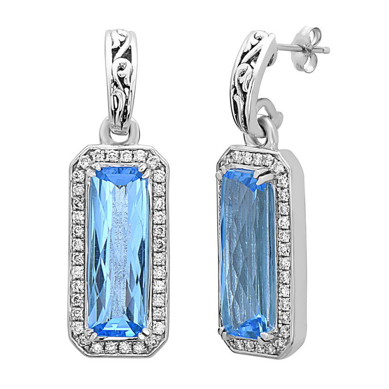 Eve Blue Topaz Earrings