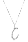 Script Diamond Initial Necklace