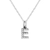 Diamond Block Initial Necklace