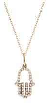Hand of G-D Diamond Necklace