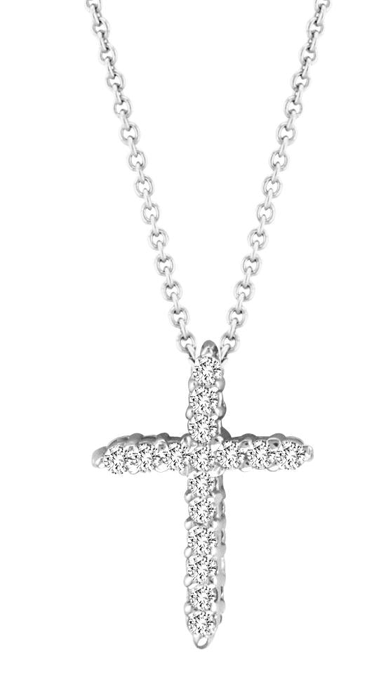 Thin Diamond Cross Necklace