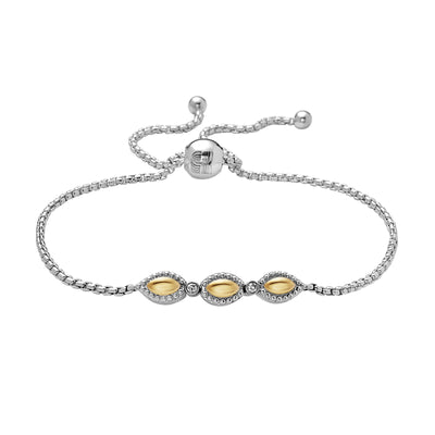 Firefly Two-Tone Bracelet With Diamonds