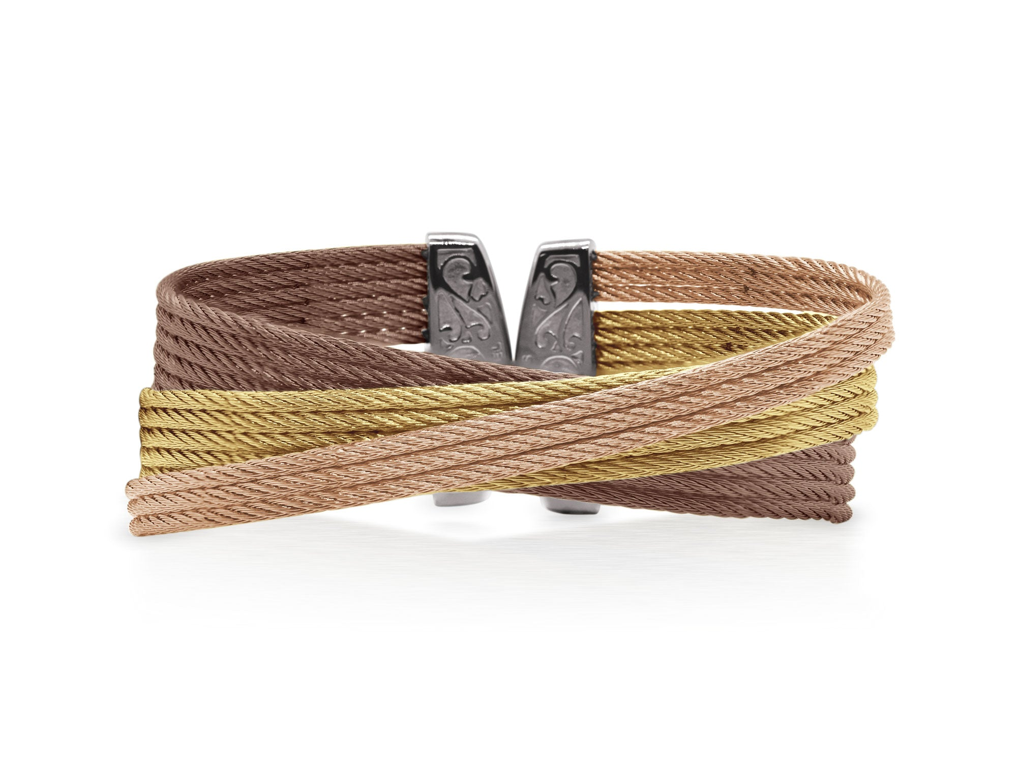 ALOR Classique Multi-Strand, Multi-Colored Bangle with Angled Design
