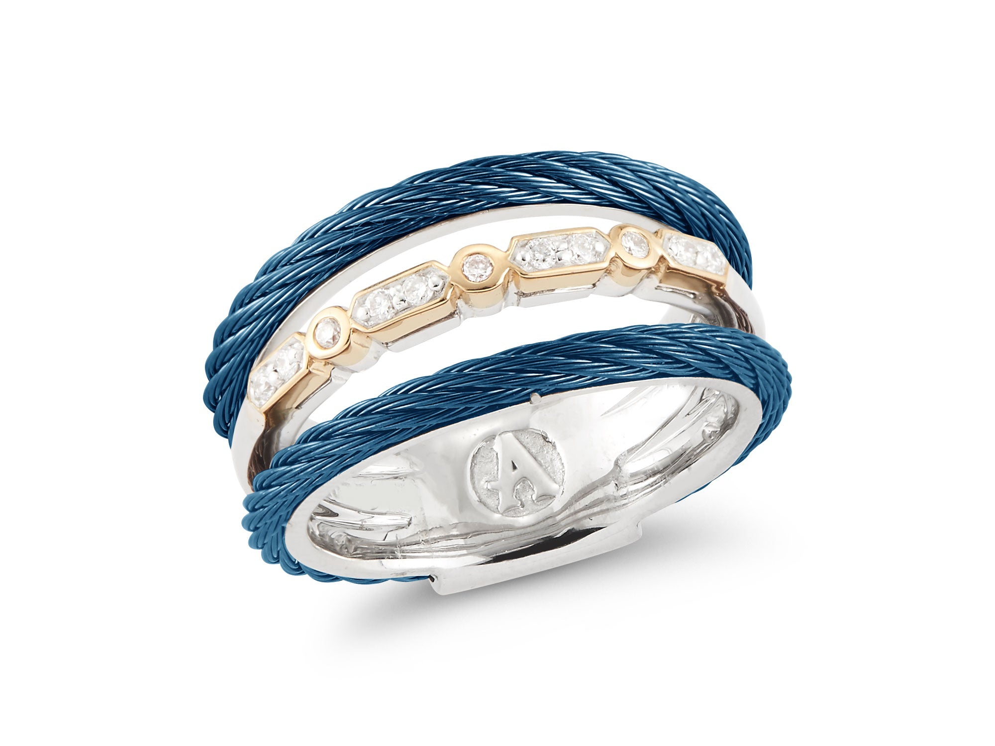 ALOR Fresh Finds Blueberry Cable, Diamond Wrap Ring