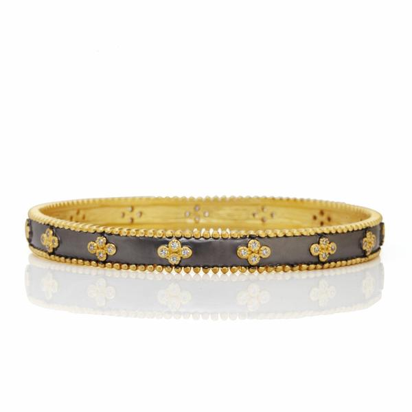 Freida Rothman Clover Beaded Bangle