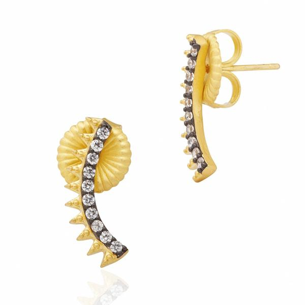 Freida Rothman Spiked Climber Earrings