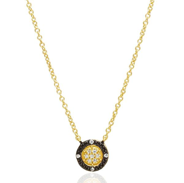 Freida Rothman Two-Tone Pavé Round Necklace