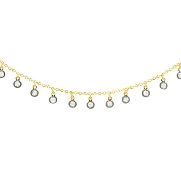 Freida Rothman Bezel Drop Necklace