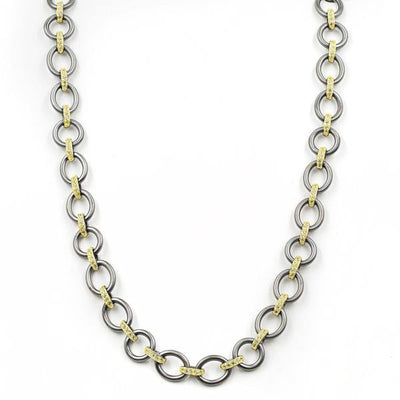 Freida Rothman Perfect Chunky Mixed Metal Link Necklace