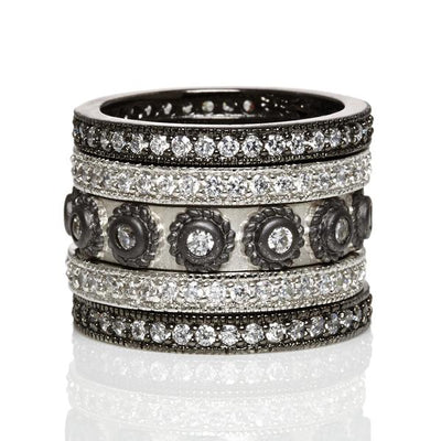 Freida Rothman Studded 5-Stack Ring