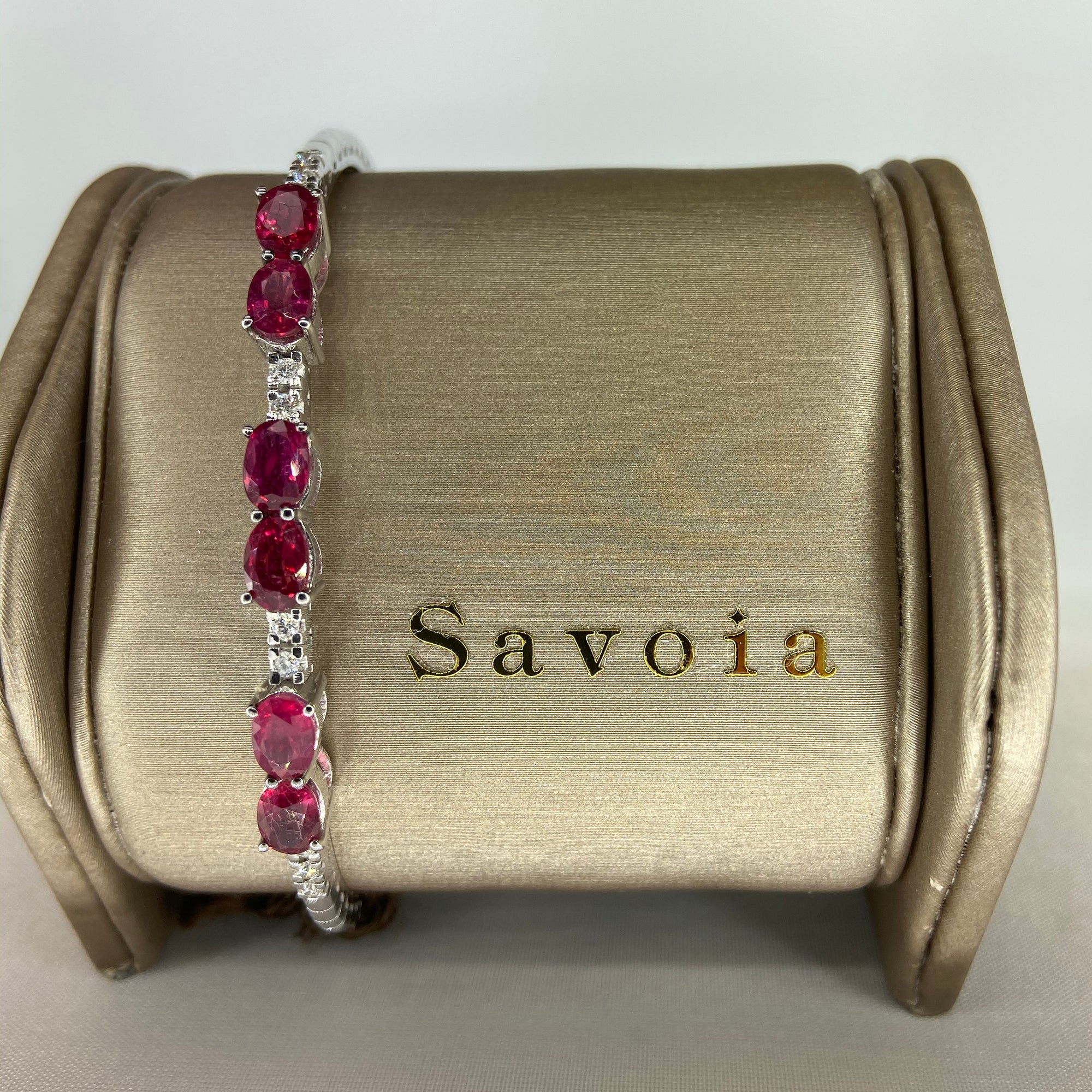 Ruby & Diamond Cuff