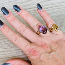 Load image into Gallery viewer, 14k yellow gold large amethyst ring