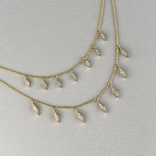Load image into Gallery viewer, Diamond drop necklace in yellow gold