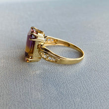 Load image into Gallery viewer, 14k yellow gold Ametrine ring