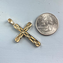 Load image into Gallery viewer, Large diamond cross in yellow gold