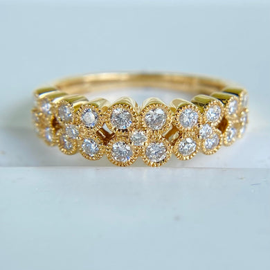 Diamond band in 14k yellow gold by Effy