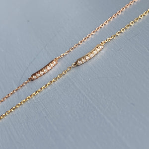Dainty diamond bracelet in 10k