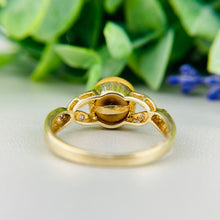 Load image into Gallery viewer, Golden pearl and diamond ring in 14k yellow gold