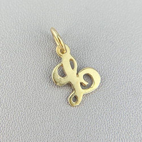 Letter L pendant/charm in yellow gold
