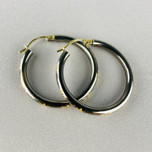 Load image into Gallery viewer, Diamond cut star hoops in 14k yellow gold
