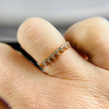 Load image into Gallery viewer, Diamond tiara ring in rose gold