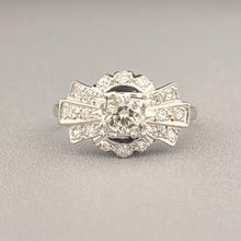 Load image into Gallery viewer, Vintage Diamond ring in white gold