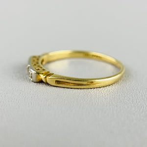 Vintage diamond ring in yellow gold