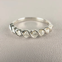 Load image into Gallery viewer, Diamond band in 10k white gold