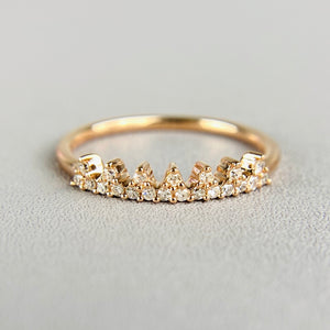 Diamond tiara ring in rose gold
